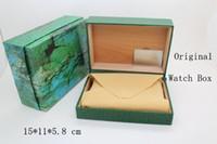 Wholesale 2016 Small Style Brand Watch Box Green Leather Original Luxury Watch Box Men New Watch Gift Box