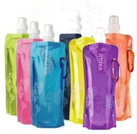 Wholesale 2016 Hot Water Bottle Comes Flat Foldable Water Bottle Collapsible Litres Anti Bottle
