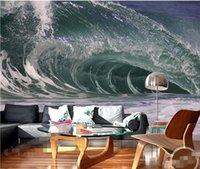 artistic backgrounds - Wall Wallpaper d Wall Art Background Photography Artistic Ocean Sea Spray Hotel Bedroom Mural Custom Painting for Living Room