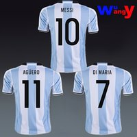 argentina home jersey - Free ship Argentina Fans Player Home away Rugby Jerseys AAA quality MESSI DI MARIA AGUERO customs Item have Video season