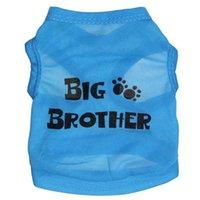 big brother t shirts - New arrive Summer Pet Dog T shirt breathable printing letter Big brother pet vest Cotton T Shirts Dog pet vest