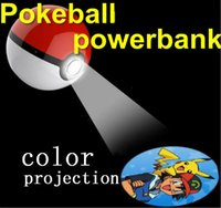 baby toys lights - 5rth Pokeball Powerbank For Poke Go Toy Cosplay Games Ball Power Bank Portable Charger baby With LED Light marking mAh but real mah