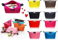 Wholesale 2016 Colors High Quality Lady MakeUp Pouch Cosmetic Make Up Bag Clutch Hanging Toiletries Travel Kit Jewelry Organizer Casual Purse