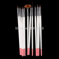 acrylic paint cleaner - High Quality Set Nail Acrylic Painting Pen Brush Nail Cleaning Brush For Manicure Makeup Nail Art Design Pen