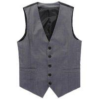 Wholesale Formal Men Suit Vest Classic Man s V neck Gray Black Patchwork Slim Fit Mens Dress Waistcoat Vests M XL