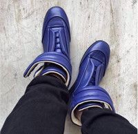 Wholesale Availability Manufacturers Designer Mimi Martin Margiela Shoes Kanye West Fashion High end Men Patent Leather Outsole High top Sports