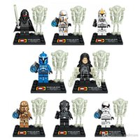 Wholesale Star Wars Minifigures noctilucence robot Building Block Brick Sets Mini figure Doll block Puzzles DIY educational toy Christmas gift