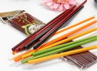 Wholesale BZ0 cm candy colors eco friendly colors plastic chopstick pair