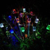 Wholesale 1Pc Solar LED Path Light Outdoor Garden Lawn Landscape Stainless Steel Lamp F00303 SPD