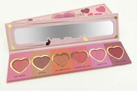 Wholesale New Makeup Face Love Flush Blush long lasting Wardrobe Heart Shaped Palette Colors Blush DHL free