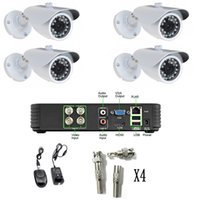 ccd dome camera - New CH H CCTV DVR Kit x720TVL SONY CCD Outdoor Home Security CCTV Camera NTSC CCTV Surveillance