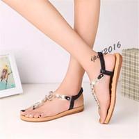 aa gladiator - Hot Sale women sandals female channel rhinestone comfortable flats flip gladiator sandals party wedding shoes Free