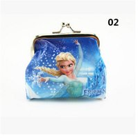 Wholesale 500pcs Frozen Elsa Anna Girls Kids Coins Boxes Purse Money Pouch Bag Cartoon Wallet Children Gift jy507