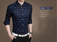 teen clothes - new Maserati fashion printed long sleeved business shirt male casual shirt Slim T shirt high quality teen clothes