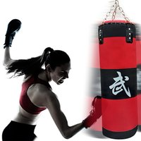 Wholesale 70cm sandbag EMPTY Training Fitness MMA Boxing Bag Hook Hanging Kick Fight Bag Sand Punch Punching Bag Sandbag