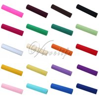Wholesale 21 Colors quot x25yards Tissue Tulle Roll Spool Craft for Table Runner Table Skirt Table Chair Stair Wedding Party Event Gift Decor