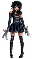 adult dance outfits - 2016 New Adult Womens Sexy Halloween Party Edward Scissorhands Costumes Outfit Fancy Cosplay Dresses Zipper Dance Clubwear