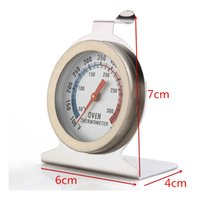 Wholesale DHL Ship Food Meat Temperature Stand Up Dial Oven Thermometer Gauge Gage Hot Worldwide oven tool Stainless double scale with package