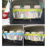 auto wire mesh - 110 cm Car Back Folding Bags Auto Seat Back Storage Folding Luggage Bag Organizer Accessories Mesh Bag