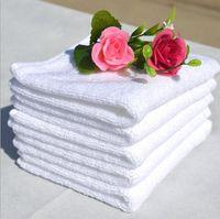 bath towel bulk - 35 CM g Hotal Towels White cotton Bath Towel Bulk Beach Sport Towel Hotel cheap towels toalha special purpose for Hotel Bath Sauna