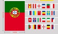 Wholesale European Cup Strong String flag Football Fans Bar and Decorative String Flag