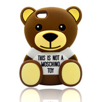 asus brand - Teddy Bear Cartoon Silicone Case Soft Cell Phone Case for iPhone Samsung LG Asus Huawei Alcatel ZTE Sony Moto HTC