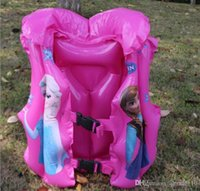 baby swim jacket - 2015 Snow White Life Jacket Frozen design swim ring Vest Baby Life Vest Baby Swimming Vest Clothing Inflatable Swimming vest LJJF21