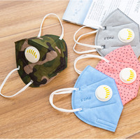 Wholesale Outdoor Anti Dust Anti fog Mask Folding Respirator PM2 Prevent Nonwoven Valved Face Mask Mouth muffle With Valve