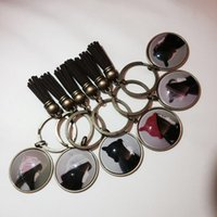antique brown glass bottles - dried flowers key ring beautiful lovely key chain nice as presents for its interesting and personalized shapes