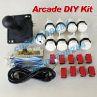 Wholesale Arcade DIY Kit Parts Zero Delay USB Encoder to PC Happ Style Joystick x Push Buttons