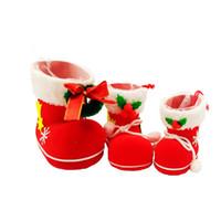 christmas box - Christmas stockings creative small gift socks gift candy box decorative supplies decorative flocking Christmas boots