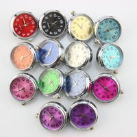 Wholesale Mix stlye mm ginger snap clock watch button Chunks Clasps Snap Jewelry DIY Jewelry Accessory Adornment Set Noosa Nosa