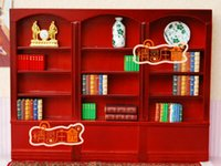 baby book case - G05 X4305 children baby gift Toy Dollhouse mini Furniture Miniature rement wooden BIG BOOK case