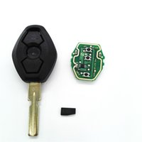Wholesale 3 Buttons Track MHz Remote Car Key For BMW EWS System X3 X5 E38 E39 E46 With Chip