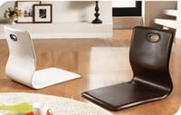 al por mayor sillas de tatami zaisu-(4pcs / lot) Silla japonesa de la silla Zaisu de la sala de estar del mobiliario de la silla del ordenador portátil de la silla del tatami Zasiu Legless de la silla del respaldo de la meditación
