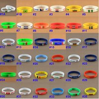 africa logos - Silicone Bracelet USA UK Mexico Kuwait South Africa Nationl Logo Print Silicone Bracelet Wrist Straps Personality Silicone Wristband Bangles