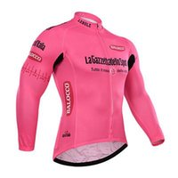 Wholesale Tour de france Italy pink Autumn or winter fleece Cycling Jerseys Bike Bicycle Long Sleeves Mountaion MTB cycling Jersey Clothing
