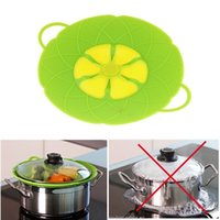 Wholesale Multi function Cooking Tools Flower Cookware Parts Green Silicone Boil Over Spill lid Stopper Oven Safe For Pot Pan Cover quot