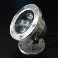 Wholesale Led Underwater Lights W Fountain Lamp IP68 Outdoor Lighting Stainless Steel Swimming Pool Landscape Lamps Fish Pond Spotlights