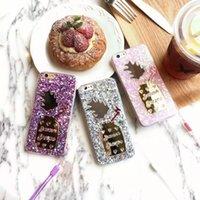 Glitter Estrellas Bling Ice Cream Pineapple Fundas TPU funda suave para el iPhone 6 6S 6 Plus 6S más la piel de moda