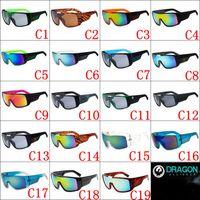 Wholesale 2016 New DOMO Sunglasses Reflective Lens Big Frame Sunglasses For Men Women Colors Top Quality Cycling Glasses Designer Sunglasse