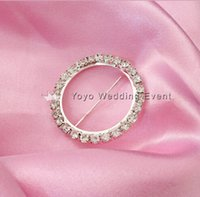 Wholesale 100pcs cm Diameter Round Diamond Ring Diamond Buckle Broach For Chair Bands Chair Sashes Decoration