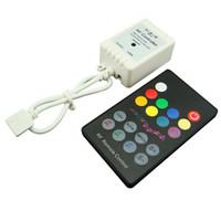 Wholesale 18 Keys RF Wireless Remote LED RGB Sound Sensor Music Controller For RGB Led Strip