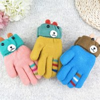 Wholesale Warm Mittens Child Knit Gloves Cartoon Gloves Gloves Mittens Winter Gloves Boys Girls Kids Gloves Baby Warm Gloves etst a16