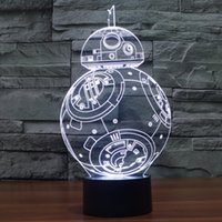 bb bank - 2016 new D Star War The Force Awaken BB Night Color Change LED Desk Table Light Lamp Power Bank Table Lamp