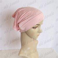 Wholesale Islamic Tube Turban Hats Muslim Cap Plain Bonnet Hijab Islamic Muslim Women s Head Scarf