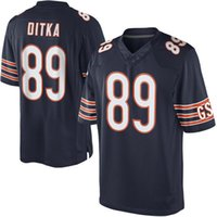 big mike - 2016 Elite new football jerseys Mike Ditka Player Jersey Embroidery White Blue jerseys Big order for DHL