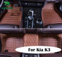 Wholesale Top Quality D Car Floor Mat For Kia K3 Foot Mat Car Foot Pad Colors Left Hand Driver Drop Shipping KF A2211