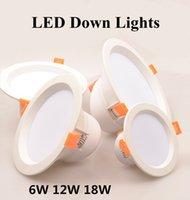 Wholesale No Dimmable Aluminum LED Downlight W W W Circular Lamp Indoor Lighting With Warm White Voltage AC85 V Ceiling light