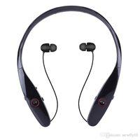 Wholesale HBS HBS Wireless Sport Neckband Headset In ear Headphone Bluetooth Stereo Earphones Headsets For LG HBS iphone Samsung